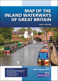 Map of the Inland Waterways of Great Britain - Imray