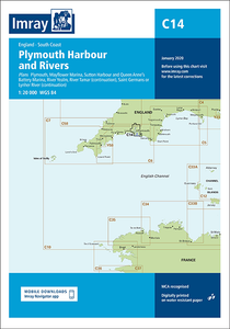 C14 Plymouth Harbours & Rivers Chart