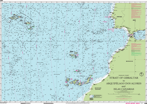 C20 straight of Gibraltar to Islas Canarias Chart and Arquipelago Dos Acores