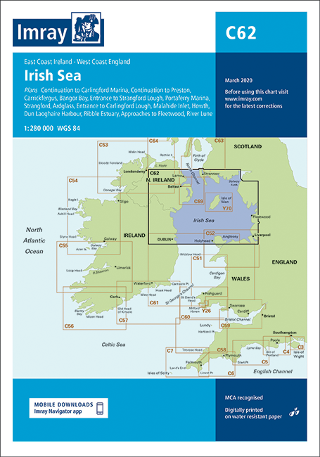 C62 Irish Sea Passage Chart Imray