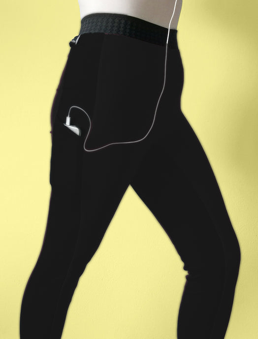 Black High Waisted 3/4 length Leggings