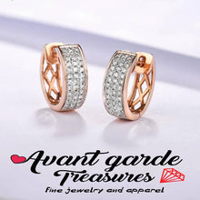 💕Stunning Diamond 14K 585 Rose Gold Earrings
