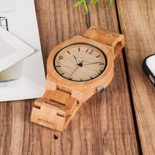 BOBOBIRD D27 Natural All Bamboo Wood Watches Top Brand Luxury Men Watch Wth Japanese 2035 Movement For Gift