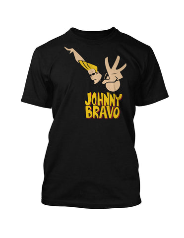 Johnny Bravo 80'S Cartoon 100% Cotton Retro Vintage Tee
