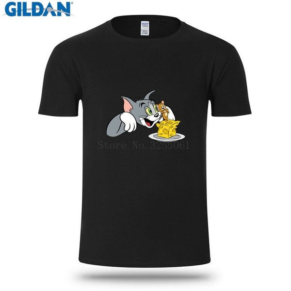 Tom And Jerry Cheese T Shirt Funny Design Clothing