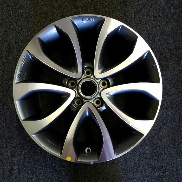 "17"" JUKE 15-16 17x7 (alloy) (5 spoke) V spoke Original OEM Wheel Rim 62713"
