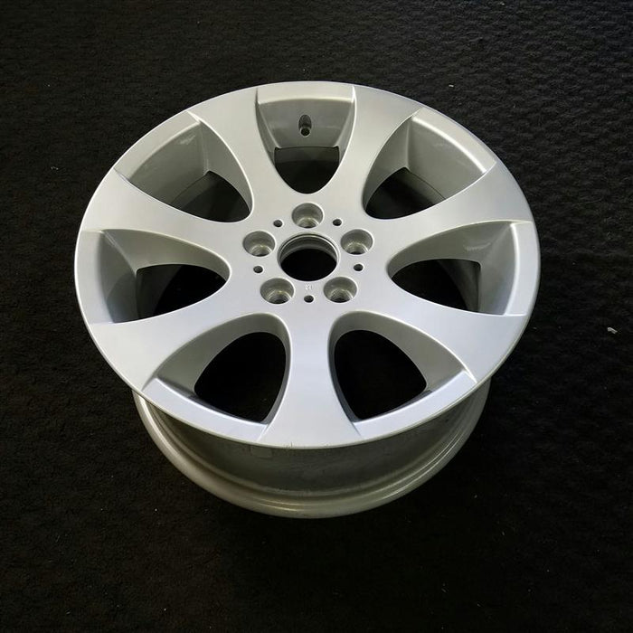 "18"" BMW 335i 12-13 18x8 (alloy), 7 spoke, flared spoke, single spoke design, flat spoke Original OEM Wheel Rim 59586 - OEM WHEEL SHOP"