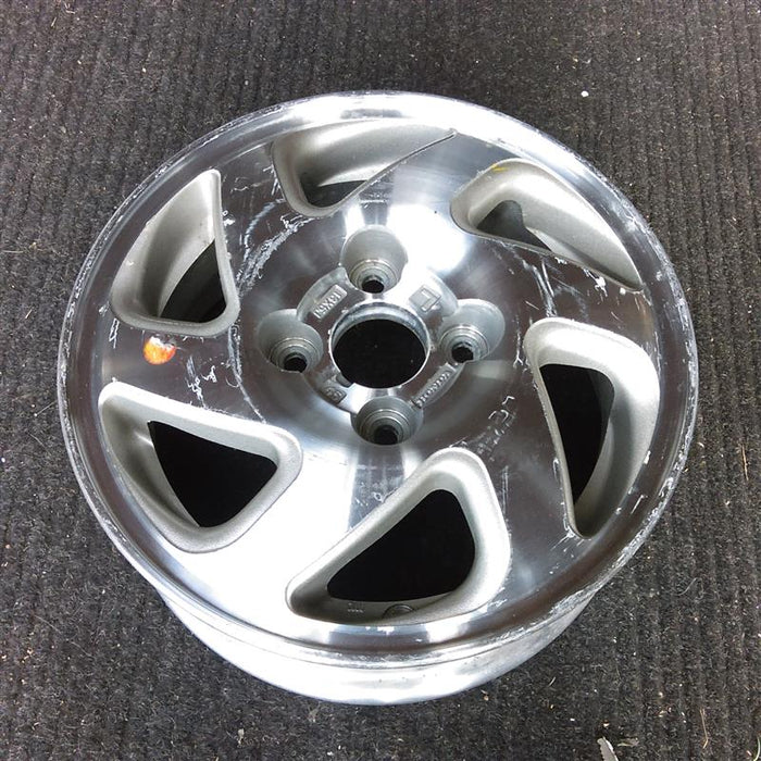 "13"" DEL SOL 93-95 13x5, alloy, 6 spoke, silver inset, L. Original OEM Wheel Rim 63959A - OEM WHEEL SHOP"