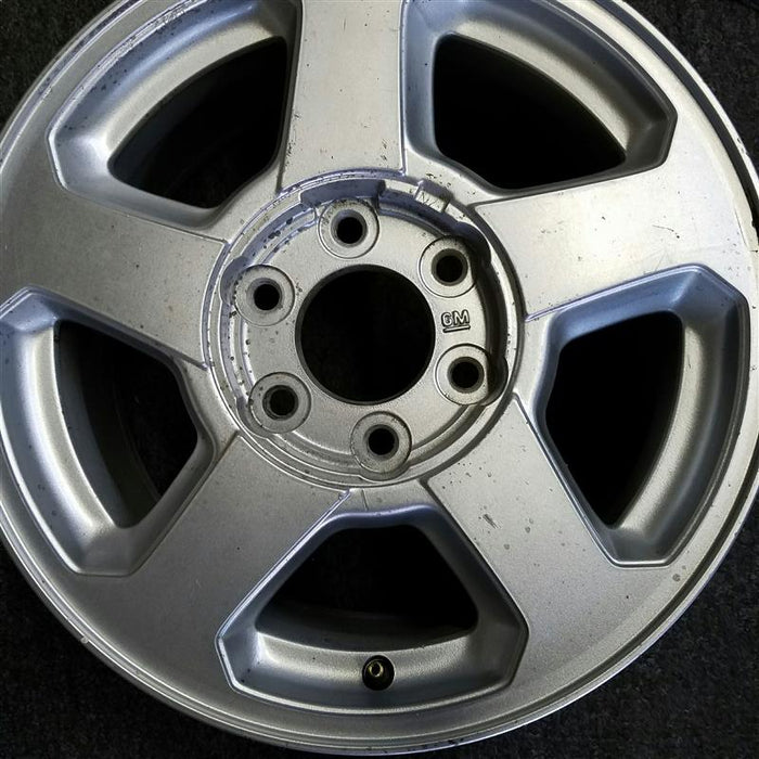 "16"" TRAILBLAZER 02-03 16x7, aluminum, 5 spoke, opt QC4 (LS), (flat face and pockets) Original OEM Wheel Rim 5141 - OEM WHEEL SHOP"