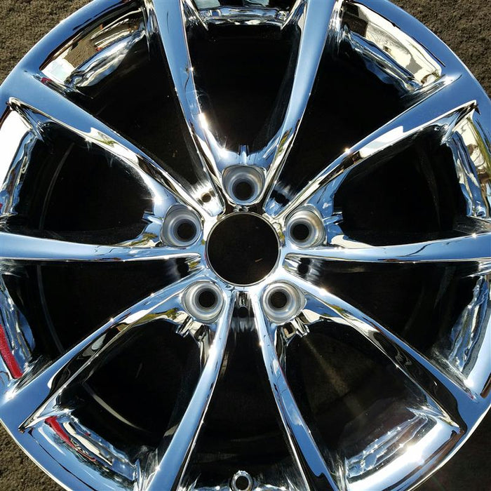 "17"" BMW 550i 08-10 17x8 (alloy), 10 spoke, V spoke Original OEM Wheel Rim 71200 - OEM WHEEL SHOP"