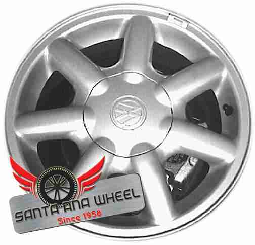 "14"" GOLF 99 Conv, from VIN 806131, 14x6, alloy, 7 spoke Original OEM Wheel Rim 69707 - OEM WHEEL SHOP"