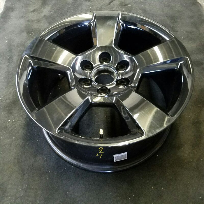 "20"" SILVERADO 1500 PICKUP 18 20x9 5 spoke exposed lug nuts black opt NZR ( redline stripe ) Original OEM Wheel Rim 5824"
