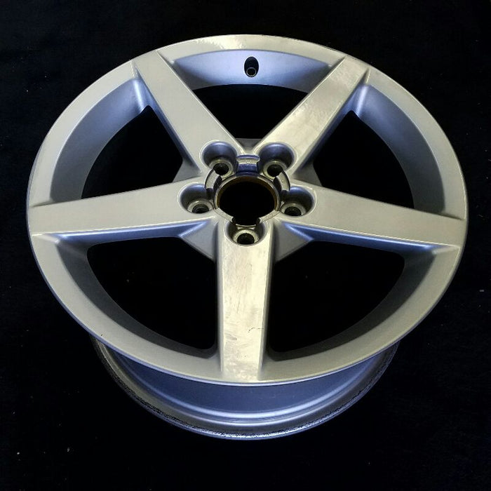 "18"" CORVETTE 05-07 18x8-1/2 (front) 5 spoke gunmetal (opt QX1) Original OEM Wheel Rim 5000"