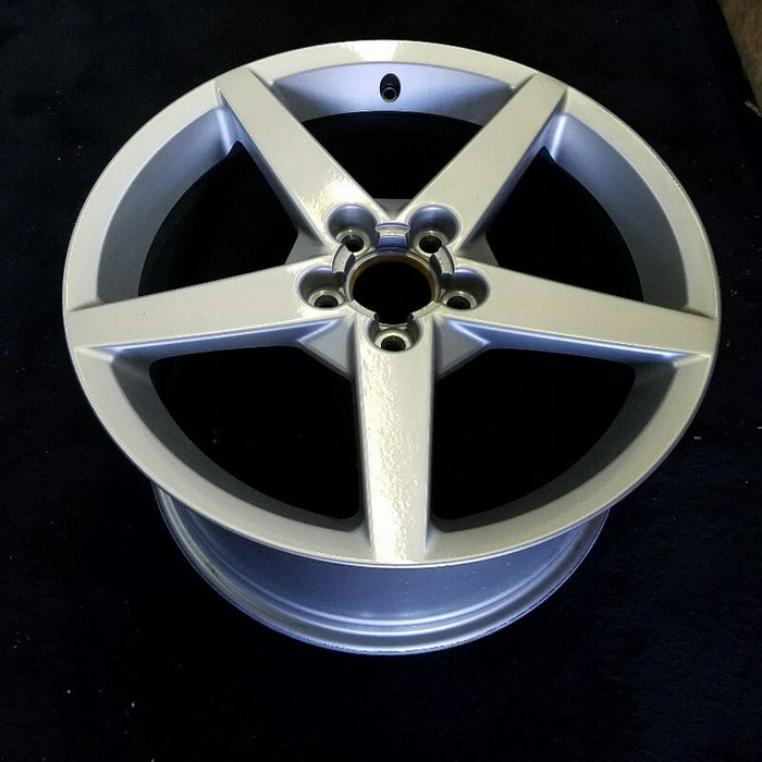 "19"" CORVETTE 05-07 19x10 (rear) 5 spoke gunmetal (opt QX1) Original OEM Wheel Rim 5024"