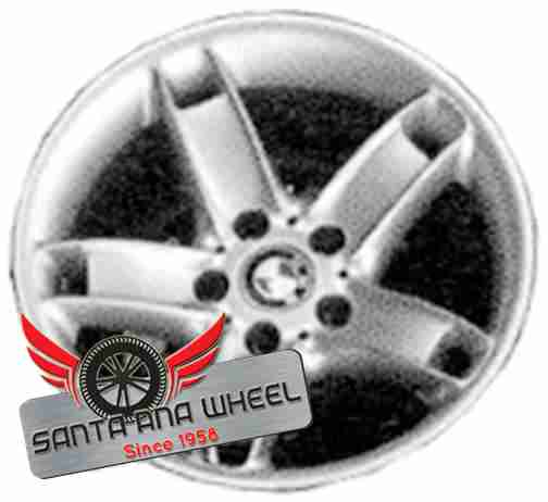 "17"" BMW 530i 01-03 17x8 (alloy), 5 spoke, grooved (with holes) Original OEM Wheel Rim 59351 - OEM WHEEL SHOP"