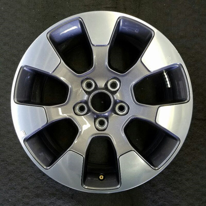 "18"" WRANGLER 19 18x7-1/2 7 spoke (opt WPT polished face with Tech gray pockets) Original OEM Wheel Rim 9222"