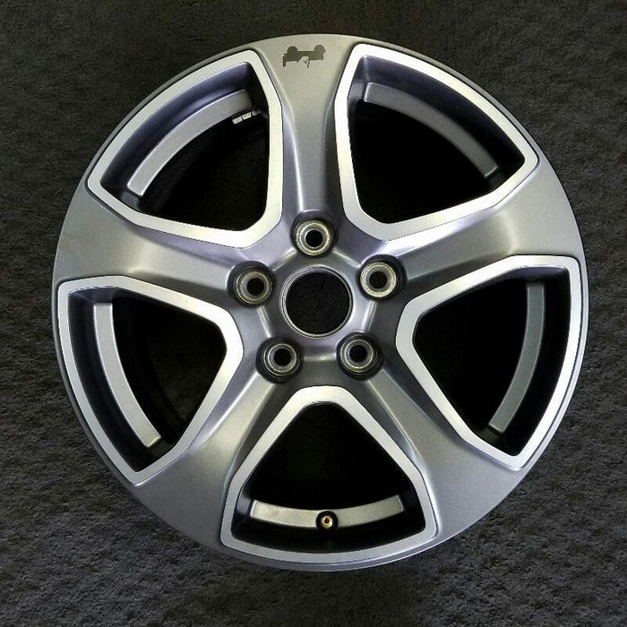 "17"" WRANGLER 19 17x7-1/2 (5 spoke) aluminum straight spoke w/o recessed outer spoke Original OEM Wheel Rim 9217"