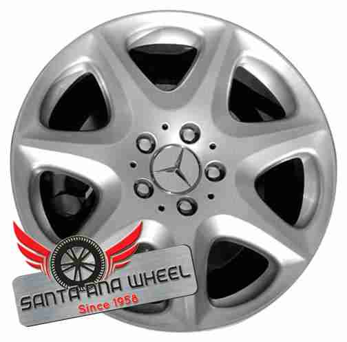 "17"" MERCEDES S-CLASS 03-05 220 Type; S430, 17x7-1/2, 7 spoke Original OEM Wheel Rim 65307 - OEM WHEEL SHOP"