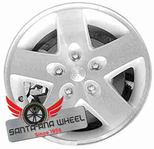 "17"" WRANGLER 09-10 17x7-1/2, 5 spoke, w/o beadlock; machined finish Original OEM Wheel Rim 9075 - OEM WHEEL SHOP"