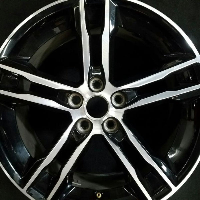 "18"" FORD FOCUS 18 18x8 ( alloy ) 10 spoke ( 5 split spoke ST ) (machined face black painted pockets) Original OEM Wheel Rim 10015"