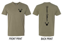 Men's Vertical Tee - Olive Green and Black