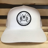White on White Seal Patch Hat