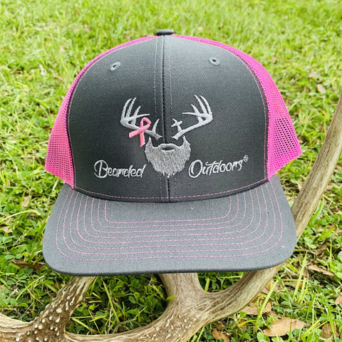 Bearded Breast Cancer Awareness Hat