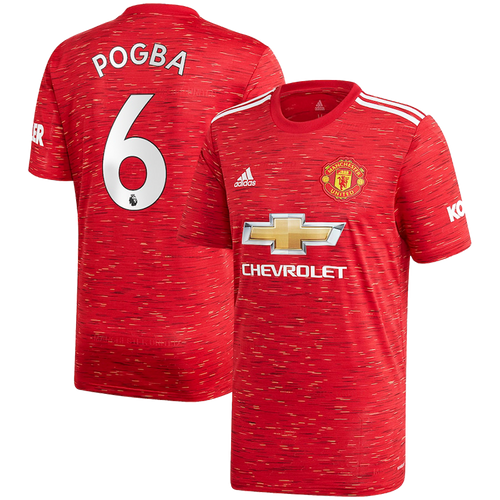 Pogba Manchester United FC Home Jersey 2020/21