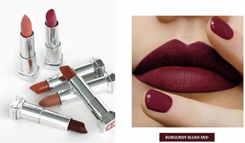 Lipstick Maybelline, Fall Lip Shade, Burgundy Blush, Berry Lip Shade, Colour Sensation, Fall Make-Up
