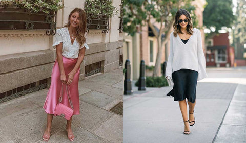 Tops For Women Online Paired With Satin Dress
