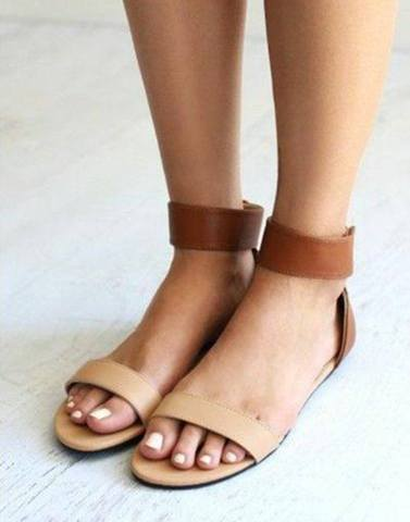 Hues of Brown Ankel Strap Flats