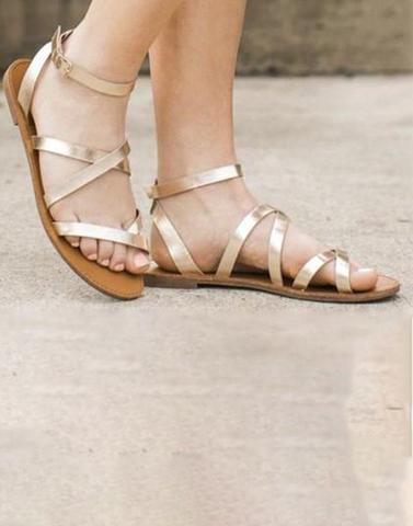 Gold Criss Cross Flats
