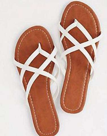 White Criss Cross Flats