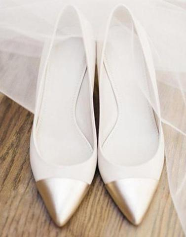 White Gold Pointed Ballerina