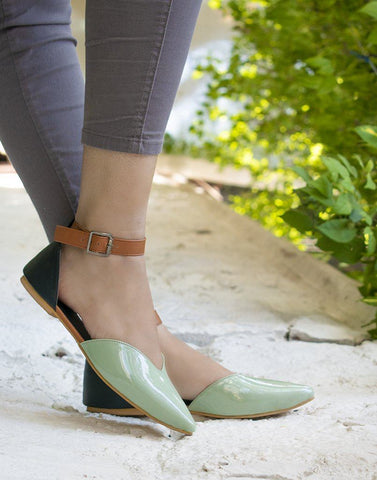 Pista Brown Work Flats