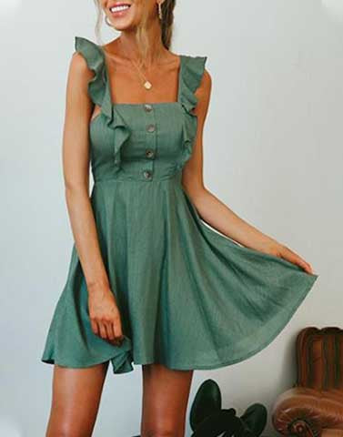 Romantic Ruffle Comfy Dress