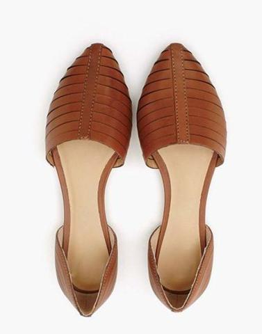 Classic Brown Pointed Flats