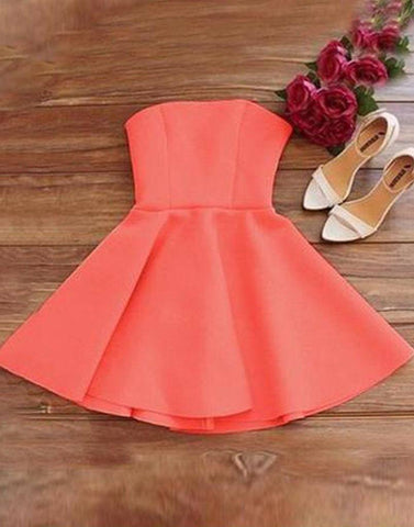 Flirty Coral Tube Dress