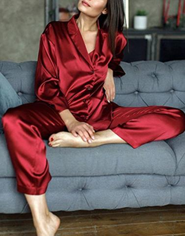 Red Relishing Sleepwear Set