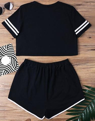 Black Comfy Nightwear Set