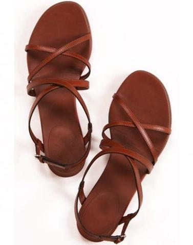 Dark Brown Criss Cross Flats