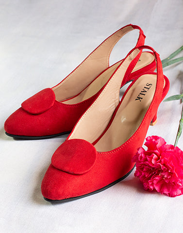 Ravish Red Kitten Heels