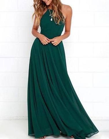 Lovely Dark Green Long Dress