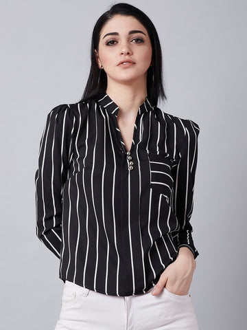 Black And White Officewear Shirt