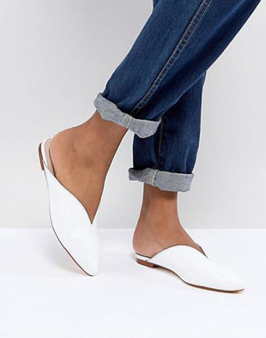 Graceful White Mule Flats
