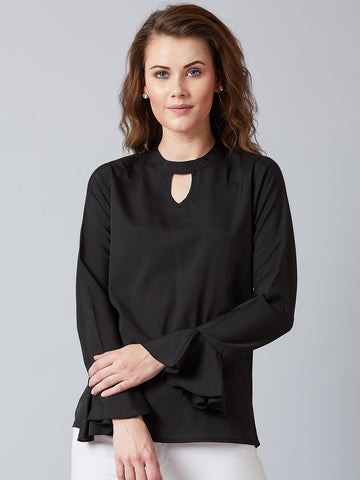 Supercool Black Choker Neck Top
