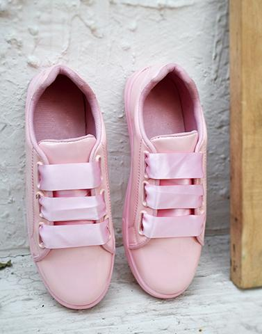Glossy Pink Comfy Sneakers