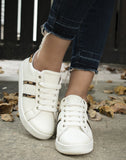 Lavish Leopard White Sneakers
