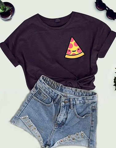 Graphic Pizza And Pepper Tee