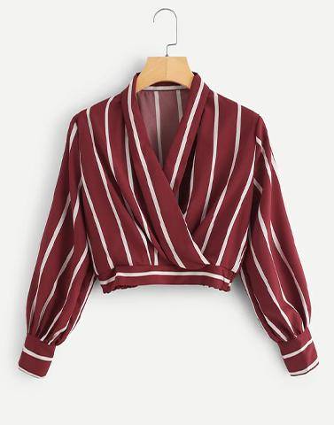Maroon Cross Over Crape Top